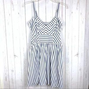 Express Striped Skater Dress Size Small